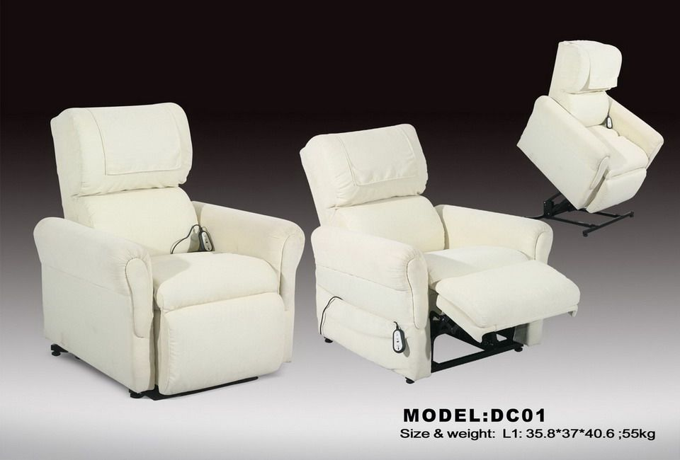 Furnitures Medtech Lazy Lift Chair With White Color To Rest Space