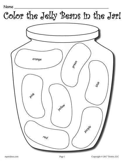 Color The Jelly Beans Color And Tally Printable Worksheets Printable Worksheets Jelly Beans Crafts Jelly Beans