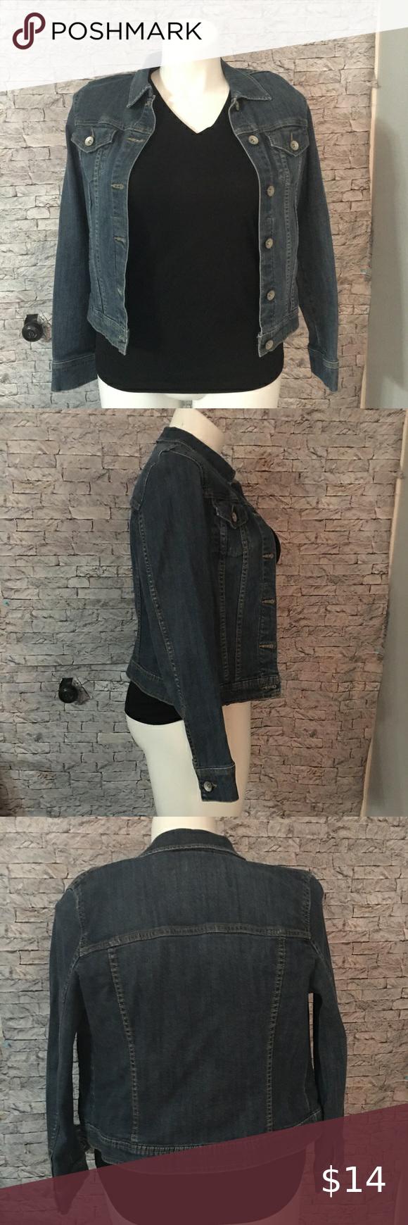 Merona Denim Jacket Med Denim Jacket Jackets Denim [ 1740 x 580 Pixel ]