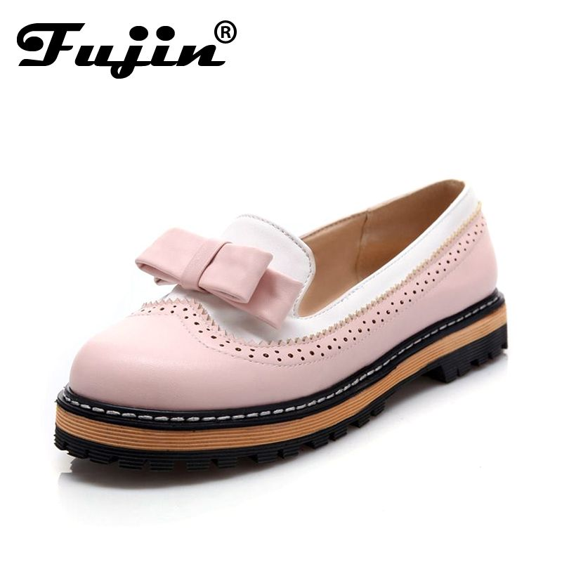 large size 2016 autumn fall fashion women flats loafers dress shoes office  platform female girls dress