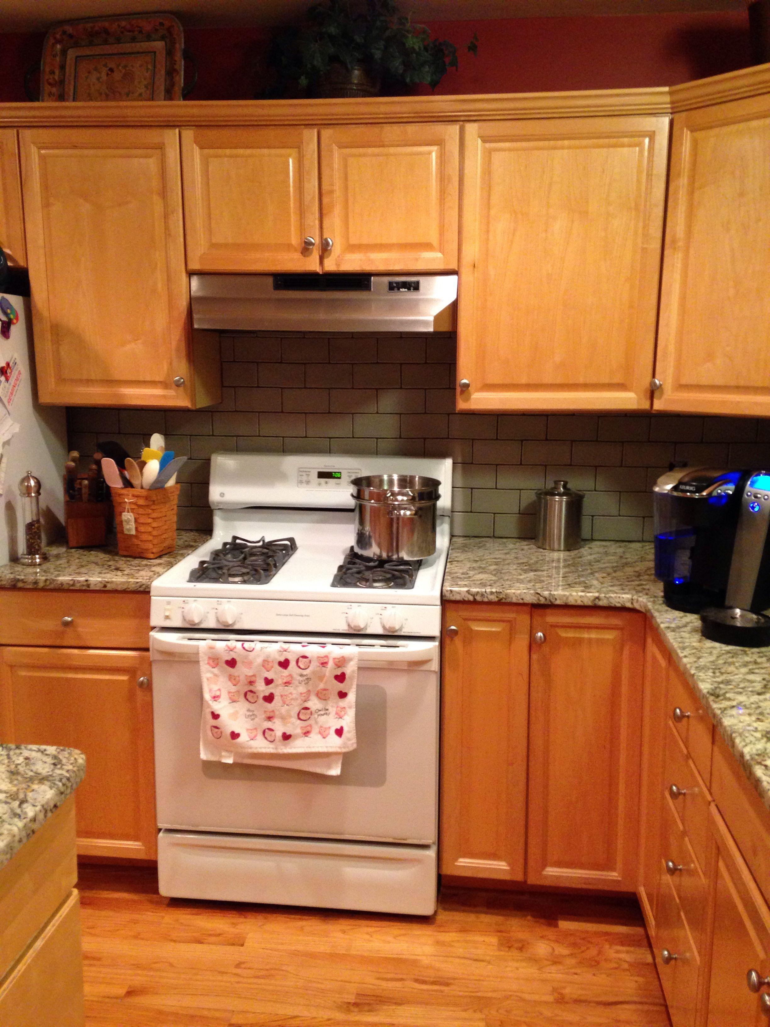 No beige with St Cecilia granite and maple cabinets. I ... on What Granite Goes With Maple Cabinets  id=58960