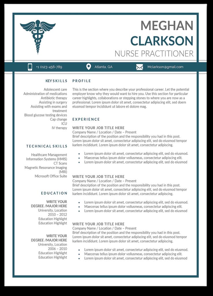 Boston Resume Template Nurse practitioner, Nursing