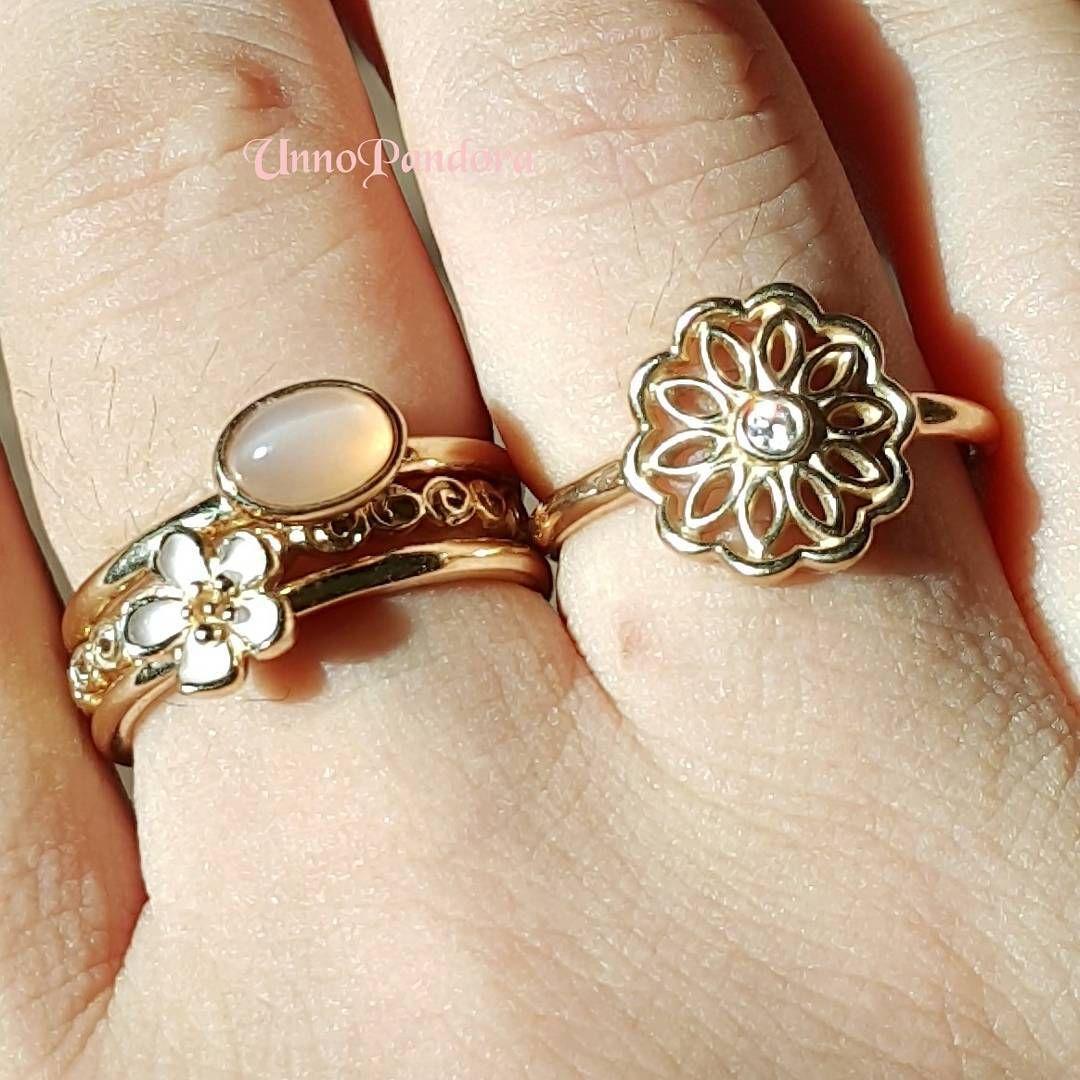 Pandora goldene ringe
