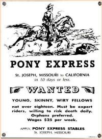 The Pony Express for Kids. online activities for the Pony