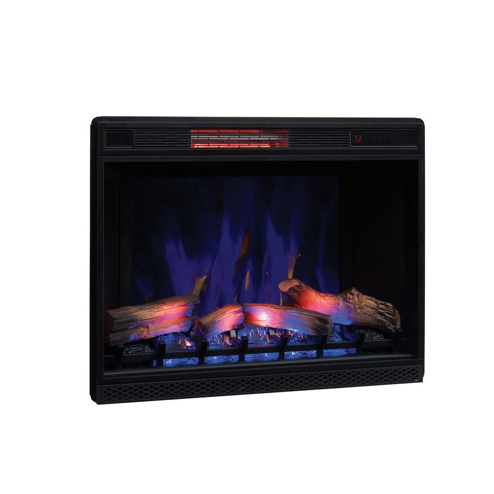 Classic Flame 26 In Ventless Infrared Electric Fireplace Insert With Trim Kit 75881 Bbd In 2020 Electric Fireplace Insert Fireplace Inserts Electric Fireplace