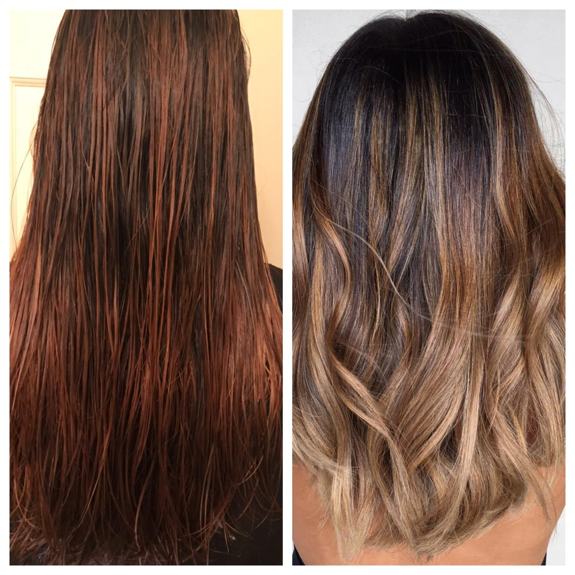 I Need Tips On How To Achieve The Hair Color On The Right Thats Me On The Left After Bleaching My Hair Then Applyin Hair Color Diy Highlights Hair Wella Toner