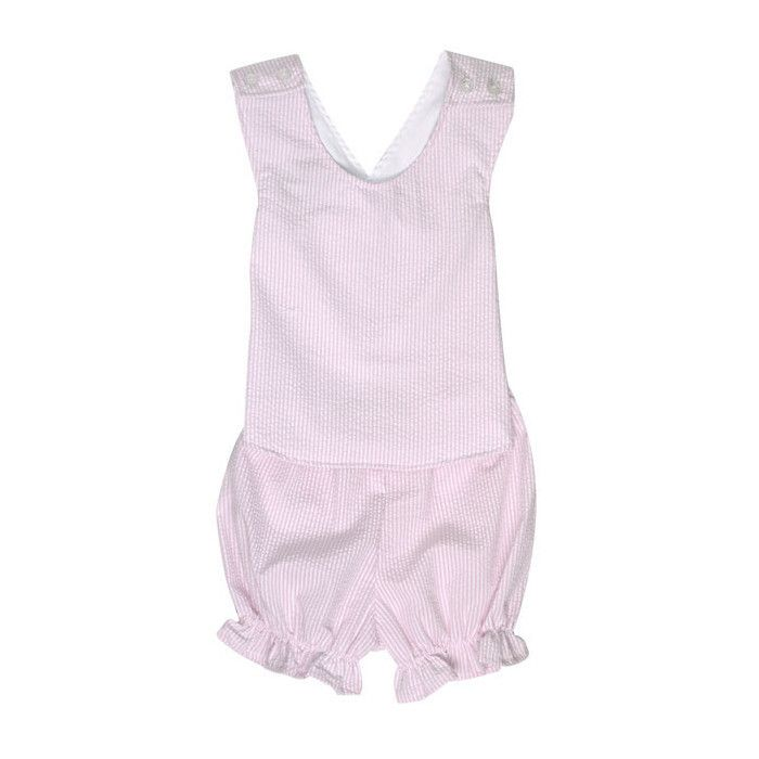 Bettye Bloomer Set - Pink Savannah Seersucker   The Beaufort Bonnet Company