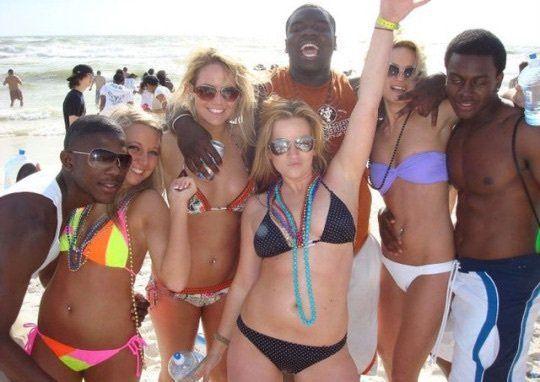 Interracial Vacation On  White Boys, White Girls, Bikinis-8050