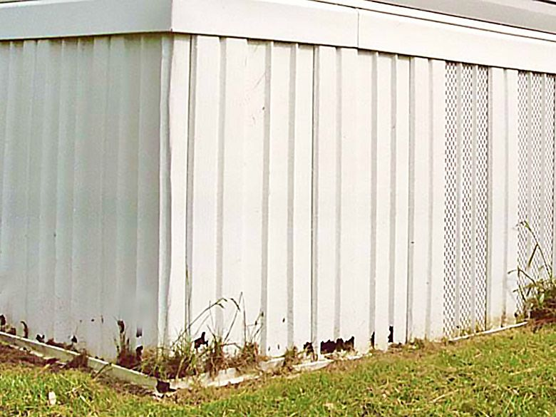 White Vinyl Skirting Repair Kit Mobile Home Repair