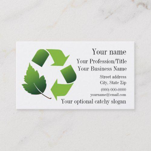 Environmental Recycle Design Business Card Zazzle Com Business Card Design Business Design Recycle Design