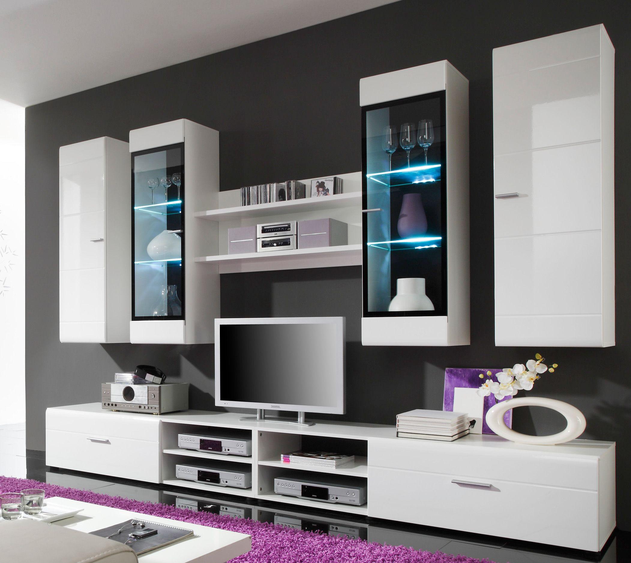 Wohnwand hängend modern schwarz  Best 25+ Wohnwand weiß hochglanz ideas on Pinterest | Wohnwand ...
