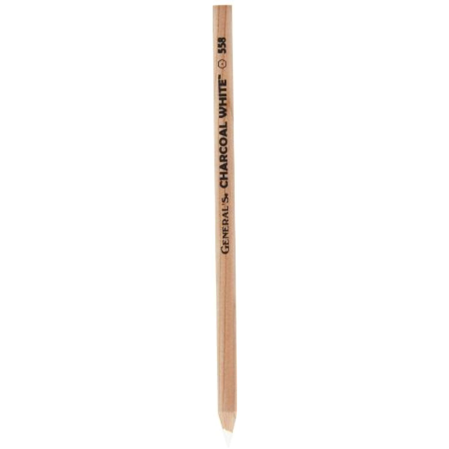 General S 558 Erasable White Charcoal Pencils Pack Of 12