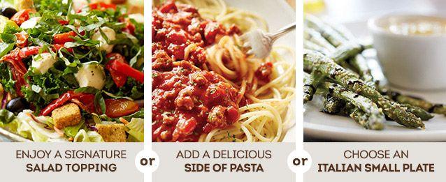 Soup salad breadsticks lunch dinner menu olive garden italian restaurant great food for Olive garden soup salad and breadsticks dinner
