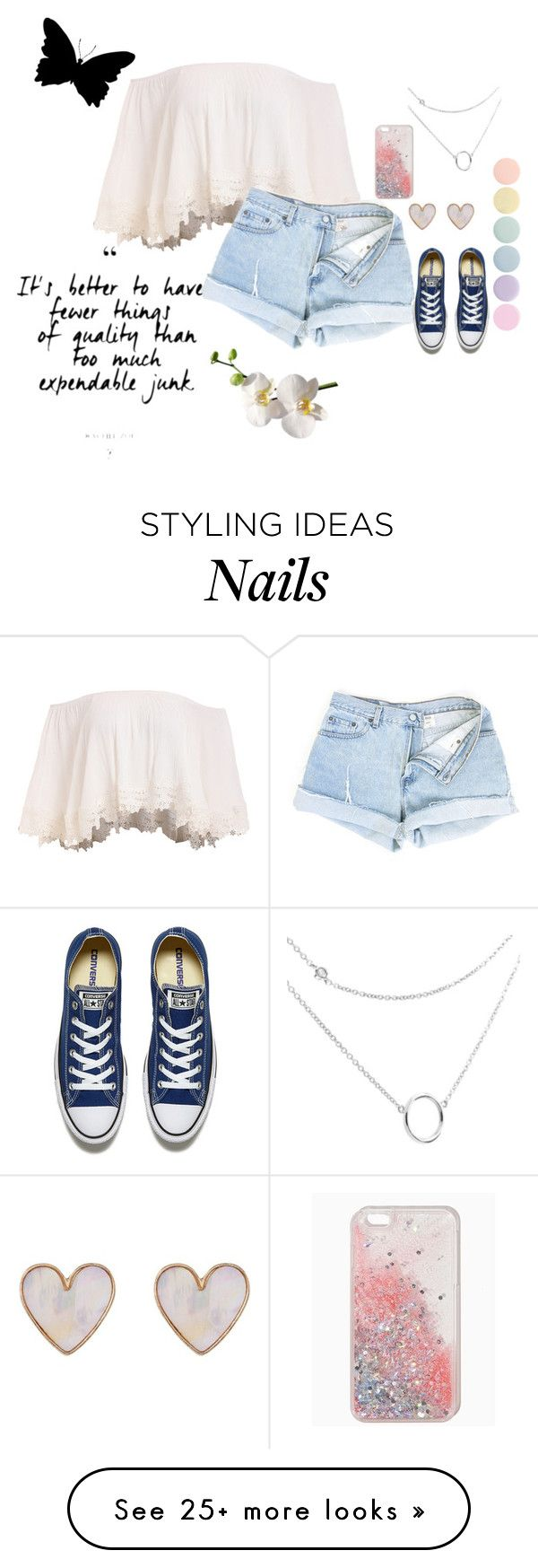 """""""Live Life To the Fullest"""" by ambroselove on Polyvore featuring Converse, New Look and Deborah Lippmann"""