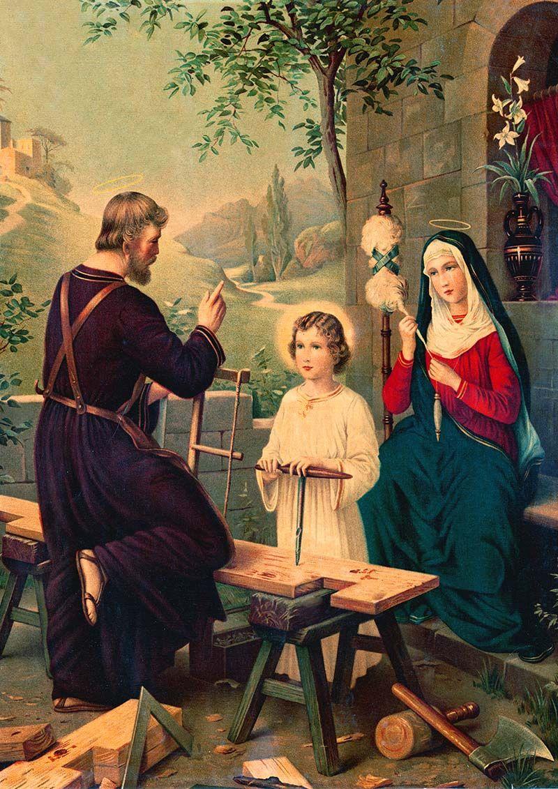 die heilige familie maria josef von