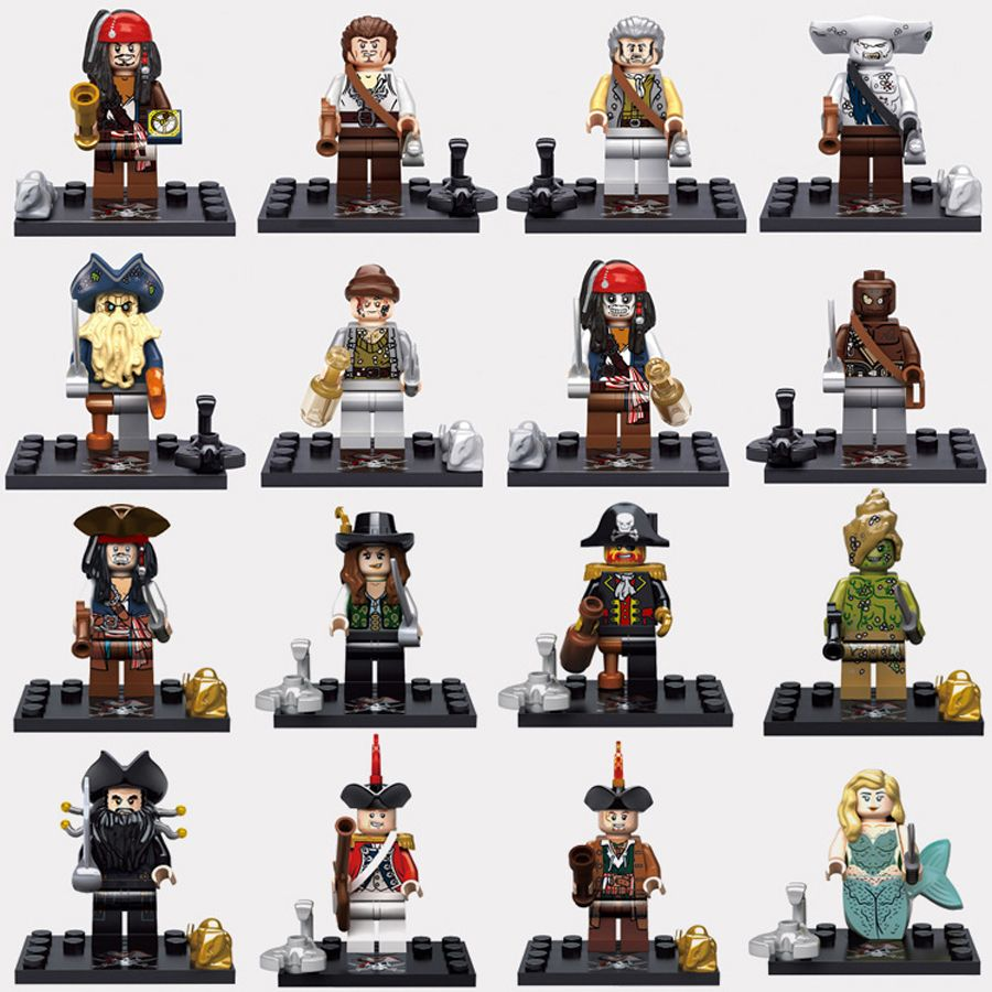 Pirates of the Caribbean building blocks sets minifigures