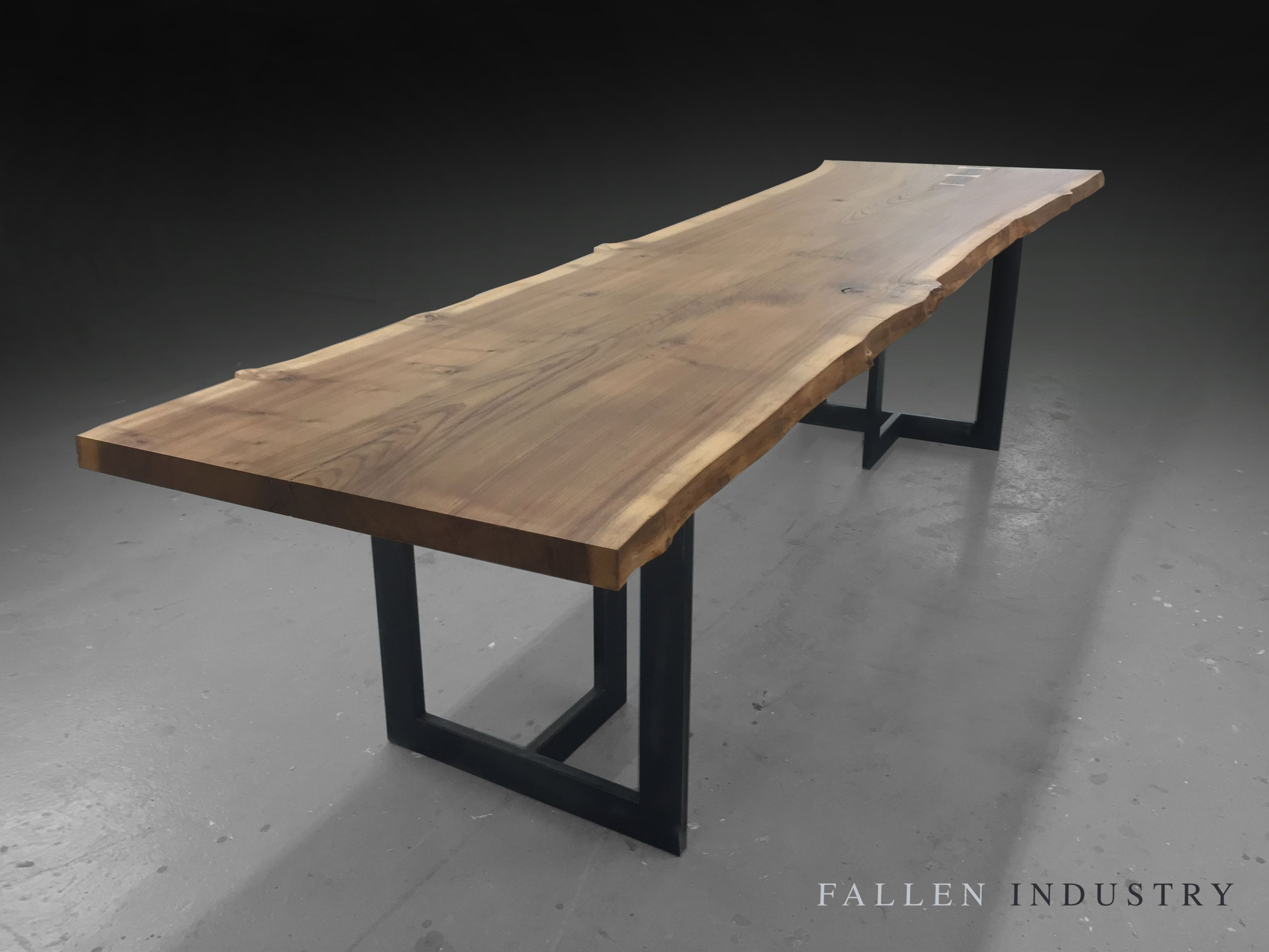 TRIBECA DINING TABLE Live Edge Custom Furniture And Architectural Elements Made From Reclaimed Wood Fallen