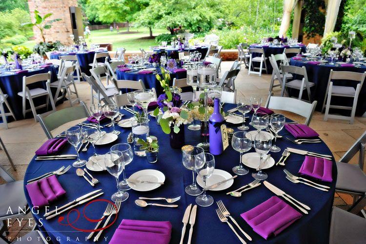purple and blue wedding & Chicago Botanic Garden wedding bridal party photos Glencoe Illinois ...