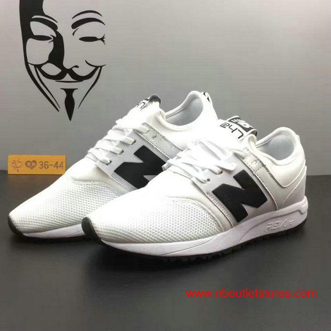 Womens 247 Classic New Balance Mrl247wb White And Black Shoes Black Shoes New Balance Shoes Shoes