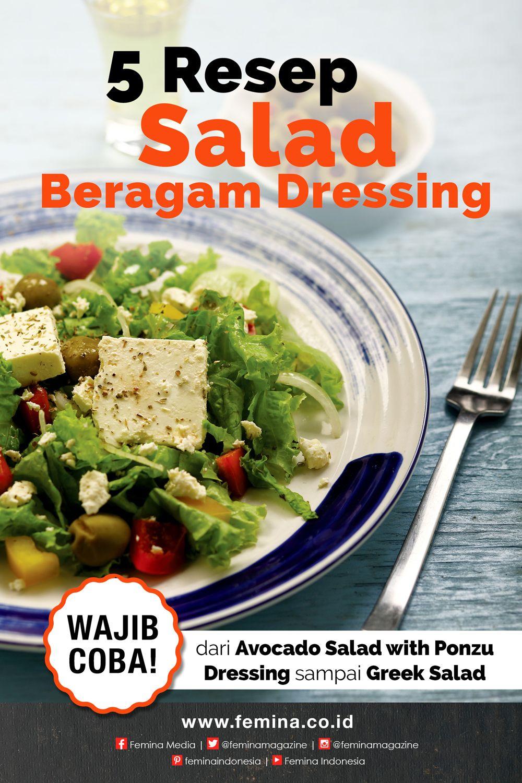 5 Salad Dengan Beragam Dressing Yang Menggoda Resep Salad Resep Masakan Sehat Saus Salad