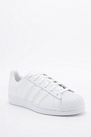 wholesale dealer 83f14 48e29 adidas Originals Superstar 80s All White Trainers - Urban Outfitters