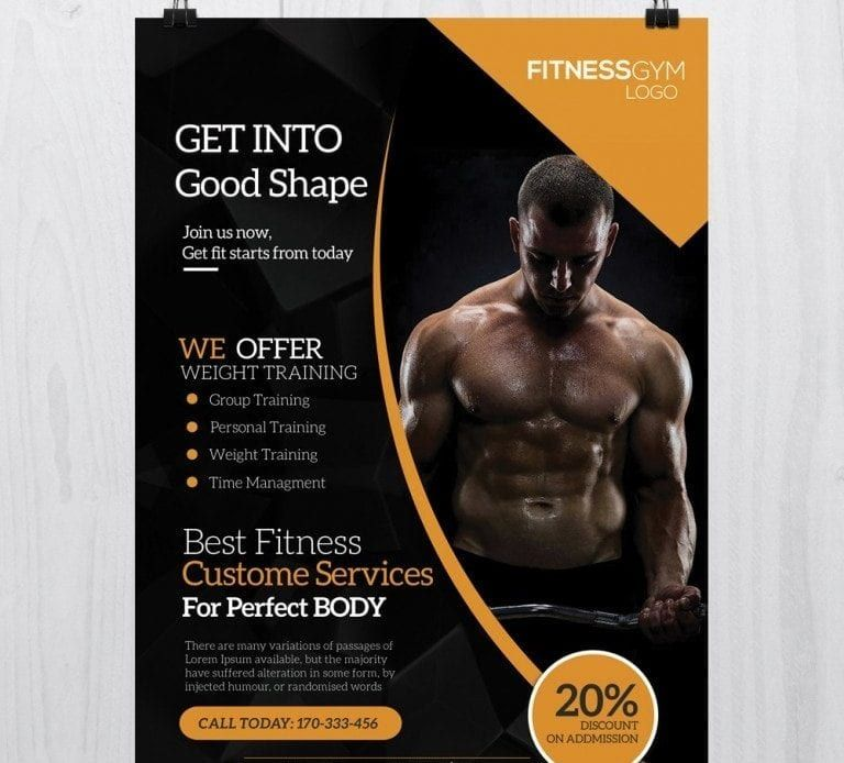 Free Fitness PSD Flyer Template | Free Psd Flyer | Free psd