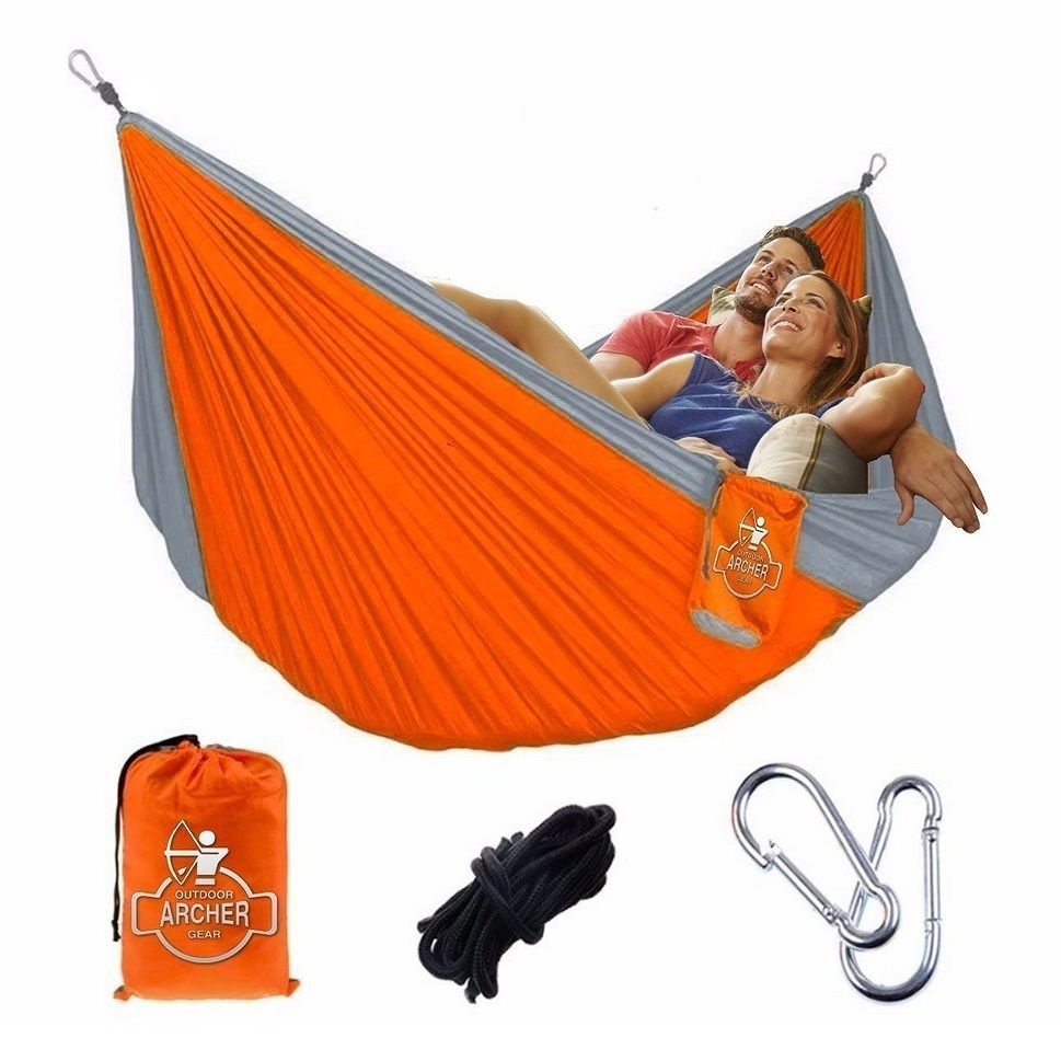 Medium image of archer  outdoor  geararcher  doublenest  parachute  camping  hammock  ropes  u0026