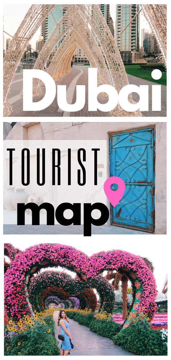 Dubai Tourist Map #middleeastdestinations
