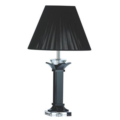 This black deco medium table lamp with black shade from galway crystal is designed to compliment your home the lamp is high