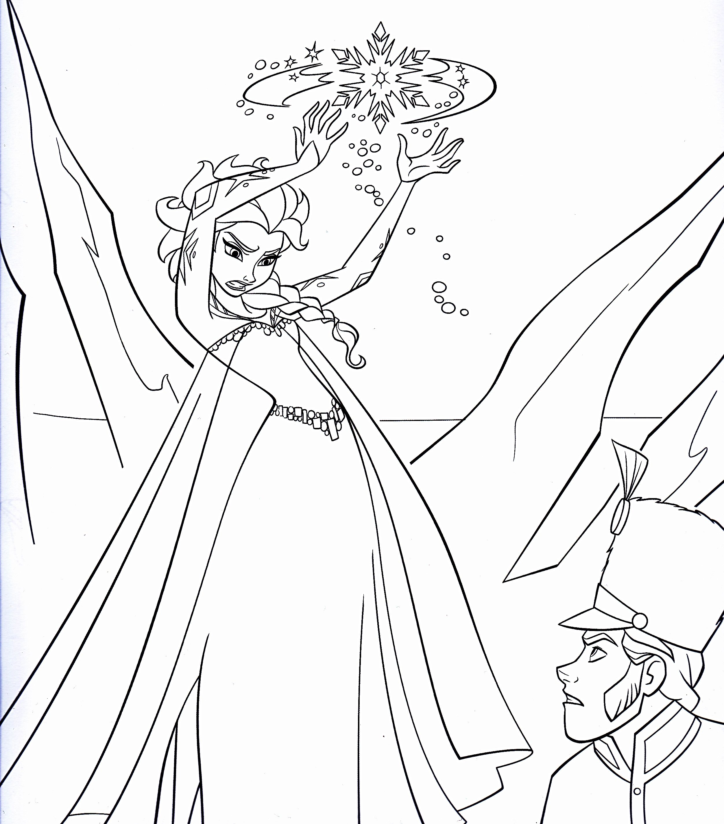 Disney Frozen Coloring Sheets | Walt Disney Coloring Pages   Queen Elsa U0026  Prince Hans