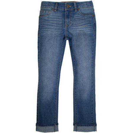 Levi's Signature Girls' 5 Pocket Boyfriend Jeans, Size: 6, Blue ...