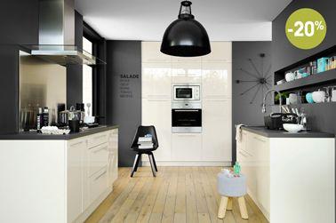 cuisine blanc mur gris gallery matkin info matkin info - Cuisine Blanche Et Mur Gris