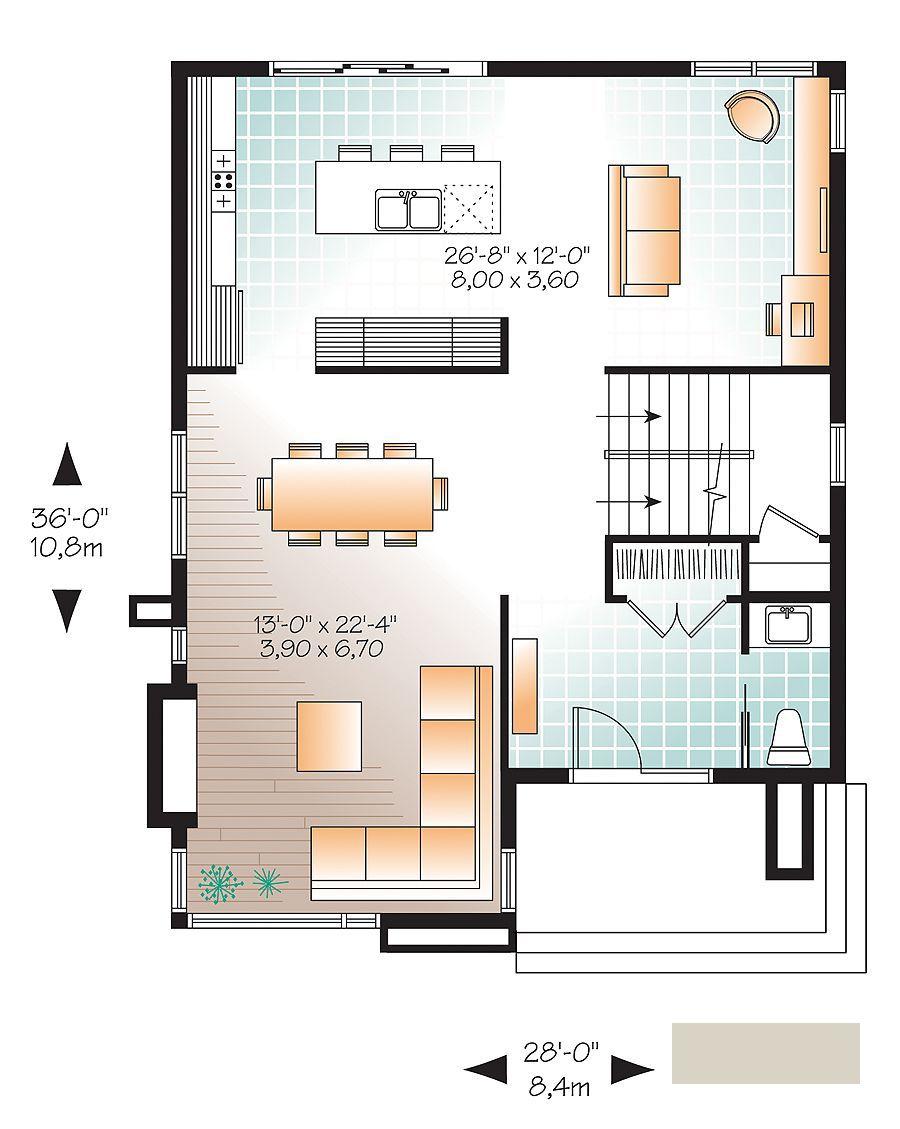 Casa Moderna De 2 Plantas Y 3 Dormitorios Hermoso Diseno 3 Planos De Casas Modernas Planos De Casas Casas Modernas