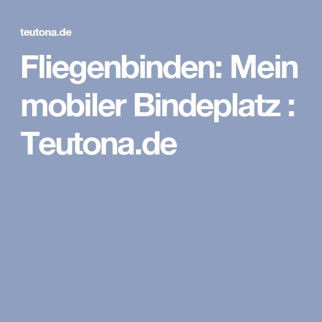 Fliegenbinden: Mein mobiler Bindeplatz : Teutona.de