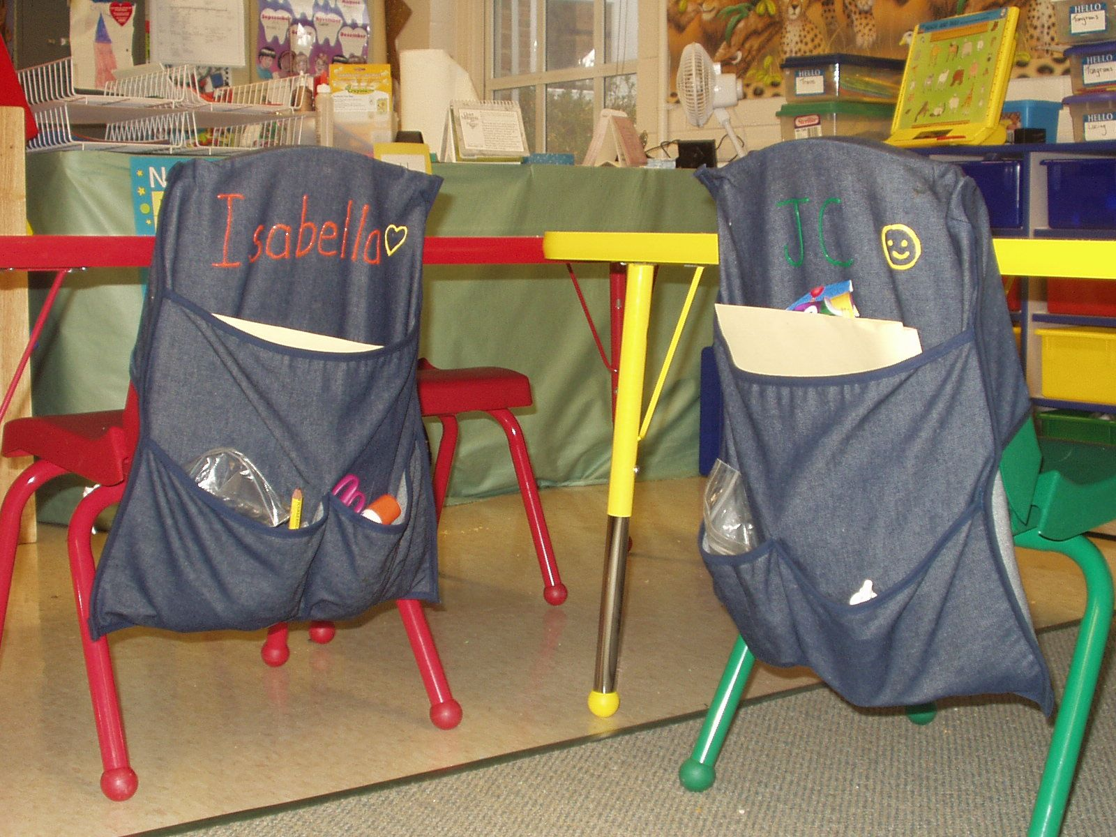 Students enjoy turning their chair bags into art projects ...