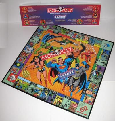 Justice League Of America Edition Monopoly Justice League Justice League Of America