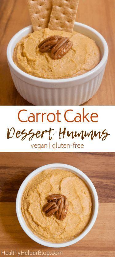 Carrot Cake Dessert Hummus [vegan + gluten-free] • Healthy Helper