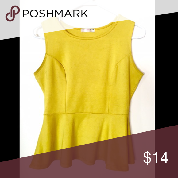 Yellow Peplum Blouse Make your style - POP - with a Yellow Peplum Blouse! Unique, fun, and a perfect mood-booster for a cloudy day. Tops Blouses