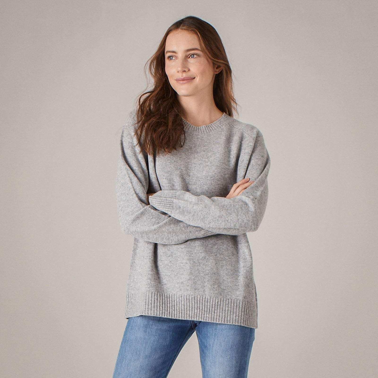 1b7892d80 The Luxe Unisex Cashmere Sweater Cement