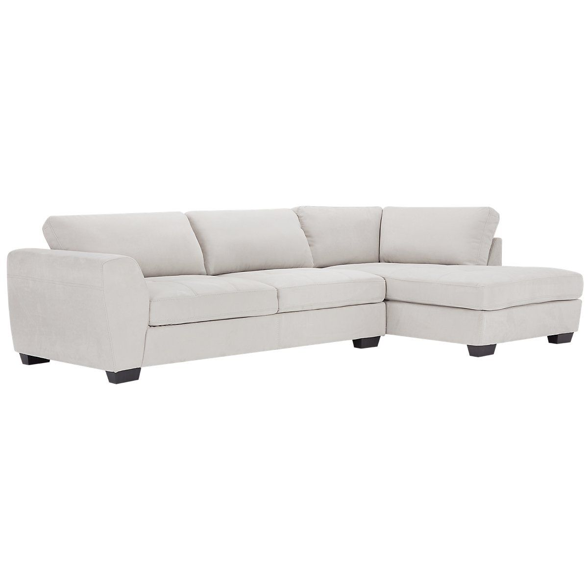 Fantastic Perry Light Gray Microfiber Right Chaise Sectional Keys Pabps2019 Chair Design Images Pabps2019Com