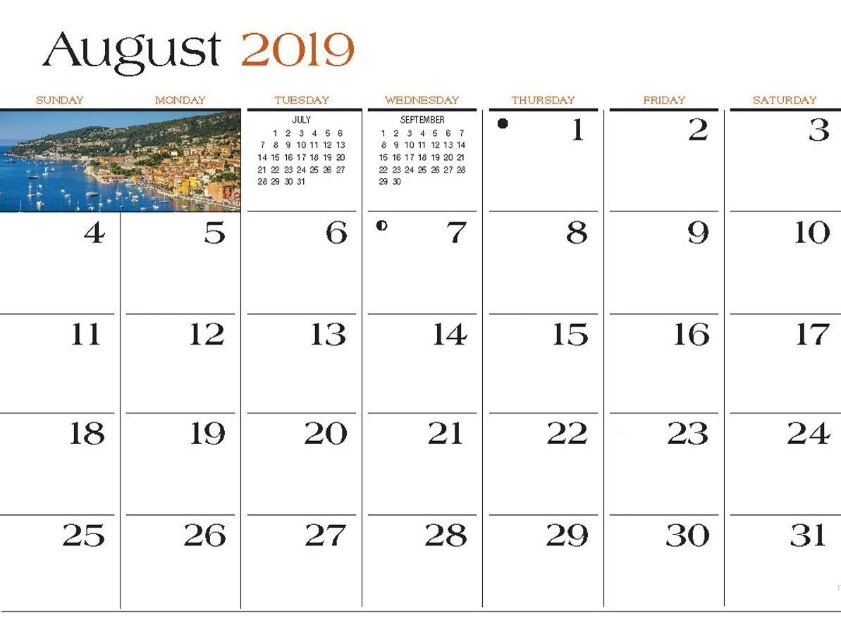 Collect August 2019 And September 2019 Wall Calendar August