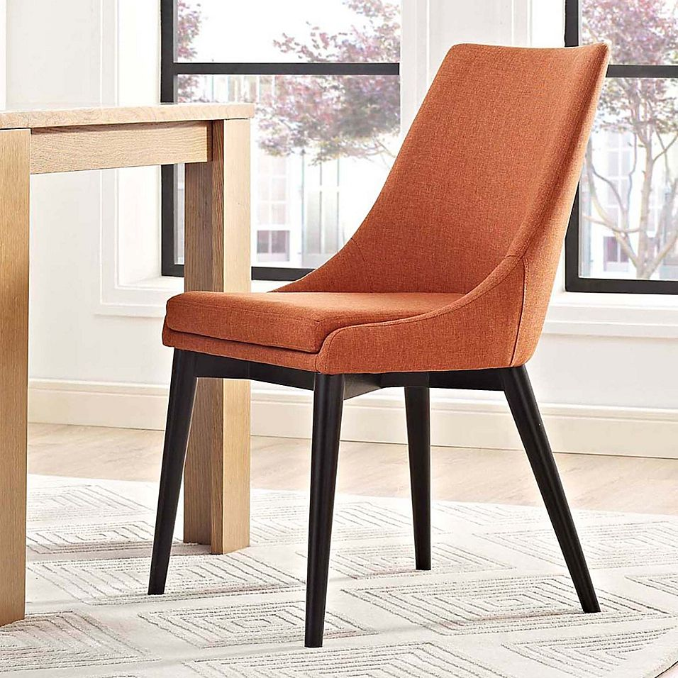 Modway Viscount Fabric Dining Chair In Orange Dining Chairs