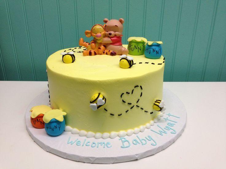 Pinterest Winnie The Pooh Baby Shower Cakes With Images Baby