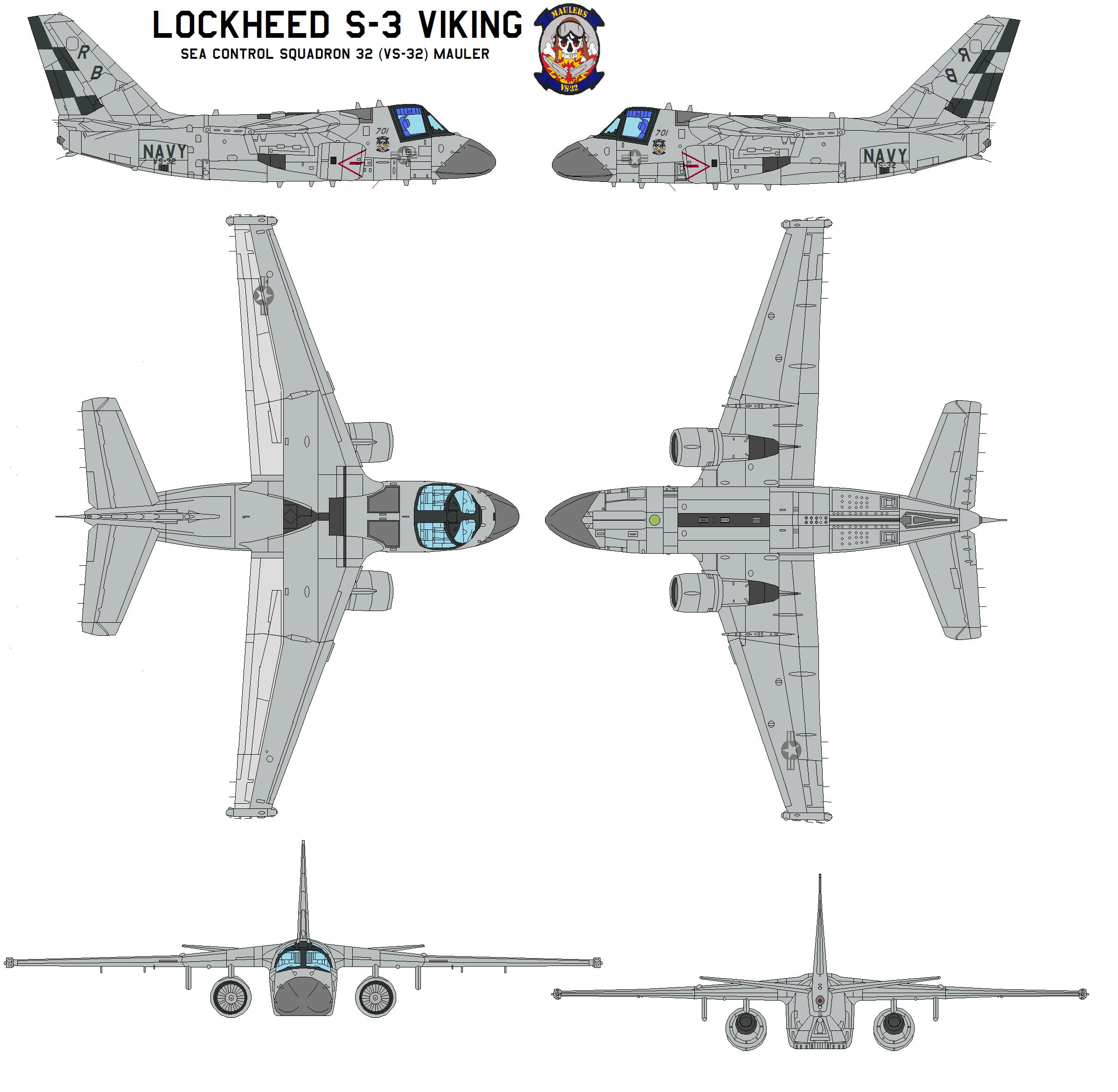 Lockheed S 3 Viking By Bagera On Deviantart