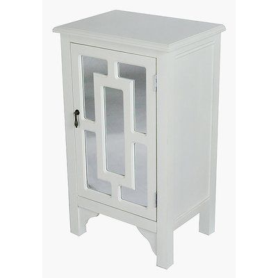 Charlton Home Winebarger 1 Door Accent Cabinet Color Antique White Accent Cabinet Accent Doors