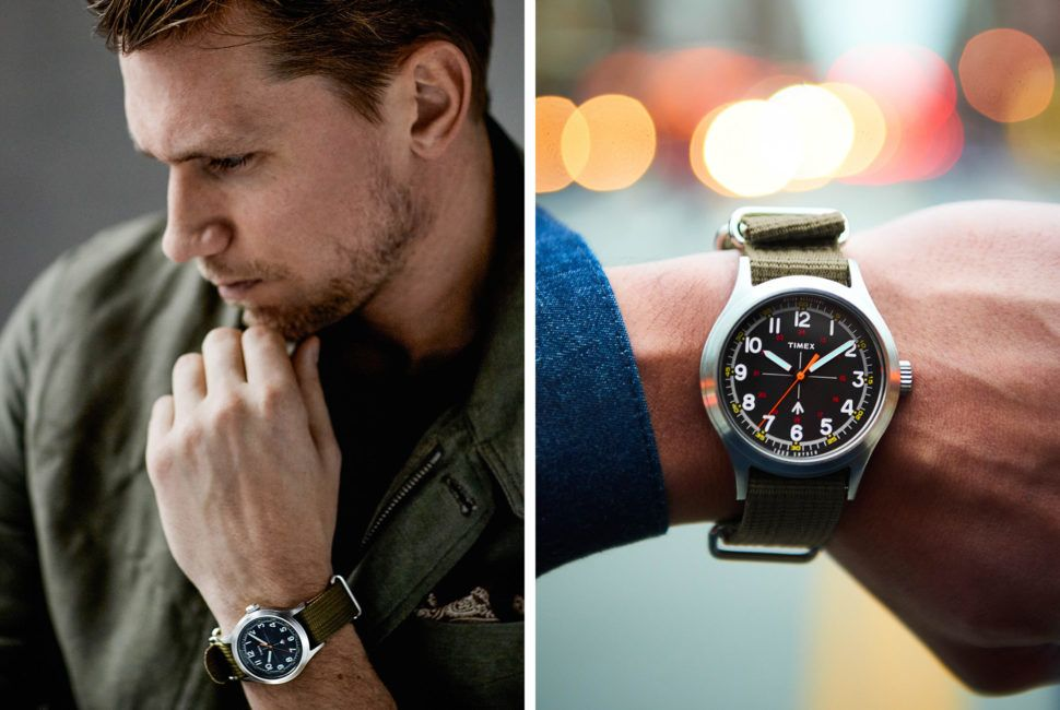 The young American menswear designer partnered with stalwart watch brand Timex to create an homage to vintage military watches from the '70s.