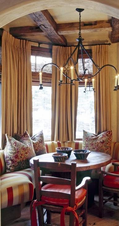 Old World Mediterranean Italian Spanish Tuscan Homes Decor High CurtainsTuscan StyleCurtain IdeasDining Room