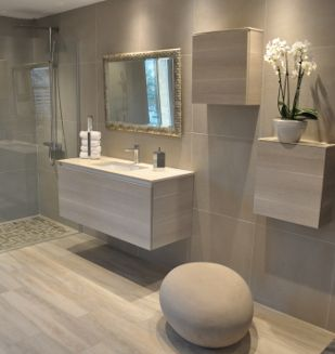 douche litalienne carrelage effet parquet effet bton salles de bain - Carrelage Salle De Bain Effet Beton