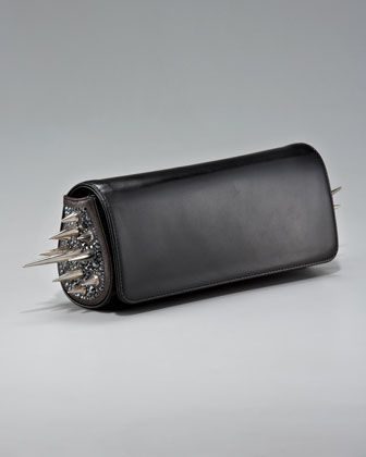 Christian Louboutin Spiked Marquise Clutch, 212 872 2577