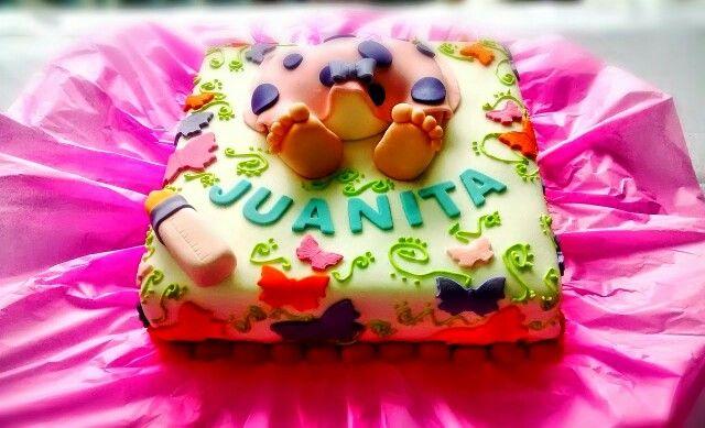 Cake baby shower girl naranja con arequipe!!